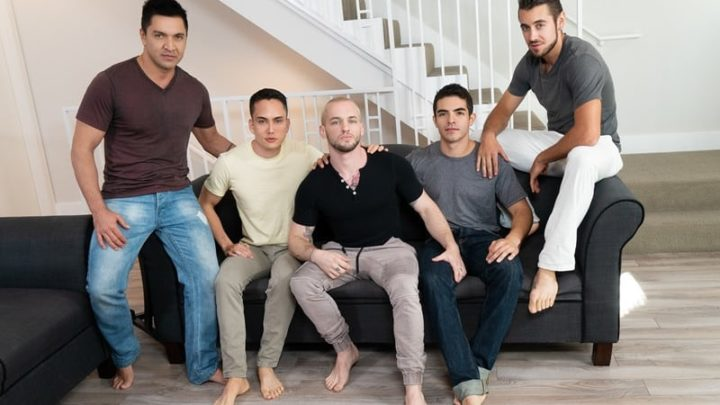 Gay group orgy with Cazden Hunter, Dante Colle, Colton Grey, Dominic Pacifico and Marcus Tresor