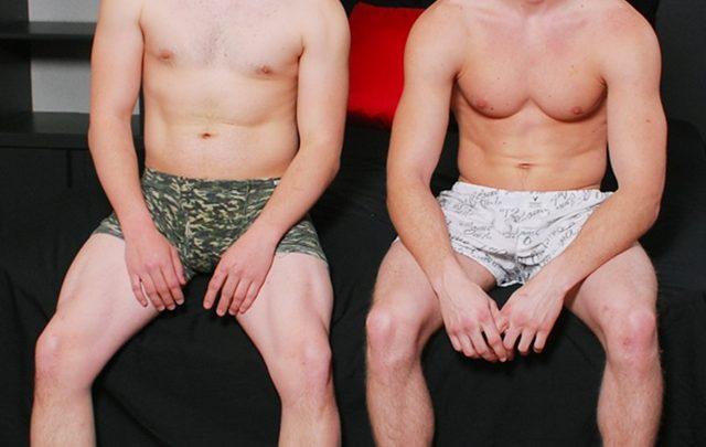 Gay bareback Johnny Forza and Lucas Weston fuck condom free at Broke Straight Boys