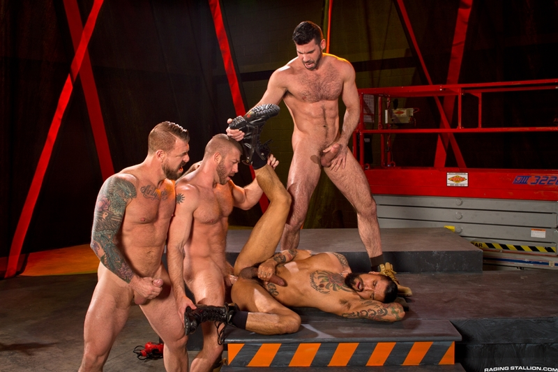 Hot ass fucking with Rocco Steele, Hunter Marx, Boomer Banks and Billy Santoro