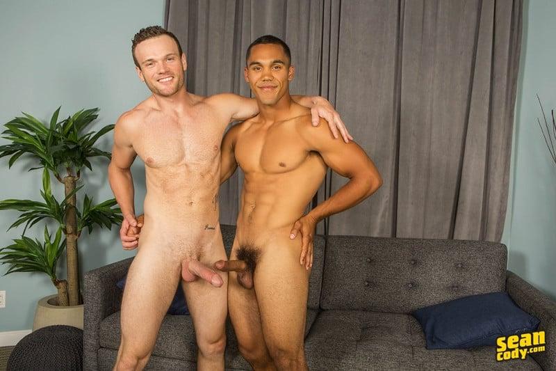 Hot naked muscle boys Murray and Sean bareback ass fucking