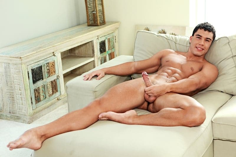Young sexy Hungarian dude Eddie Moore strips naked wanking his huge twink dick to a massive load of hot boy cum