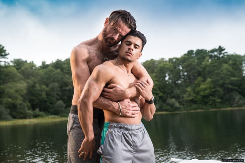 Hairy bearded hard-body Brendan Patrick is no match for sex addict Armond Rizzo