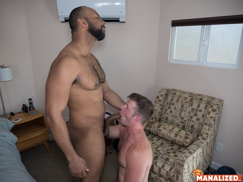 Interracial anal fuck fest Brian Bonds's bare fucked by Ray Diesel's huge raw black dick