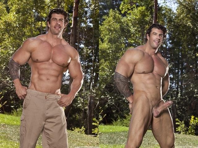 Muscle hunks Jimmy Fanz and Zeb Atlas hard ass fucking at Raging Stallion