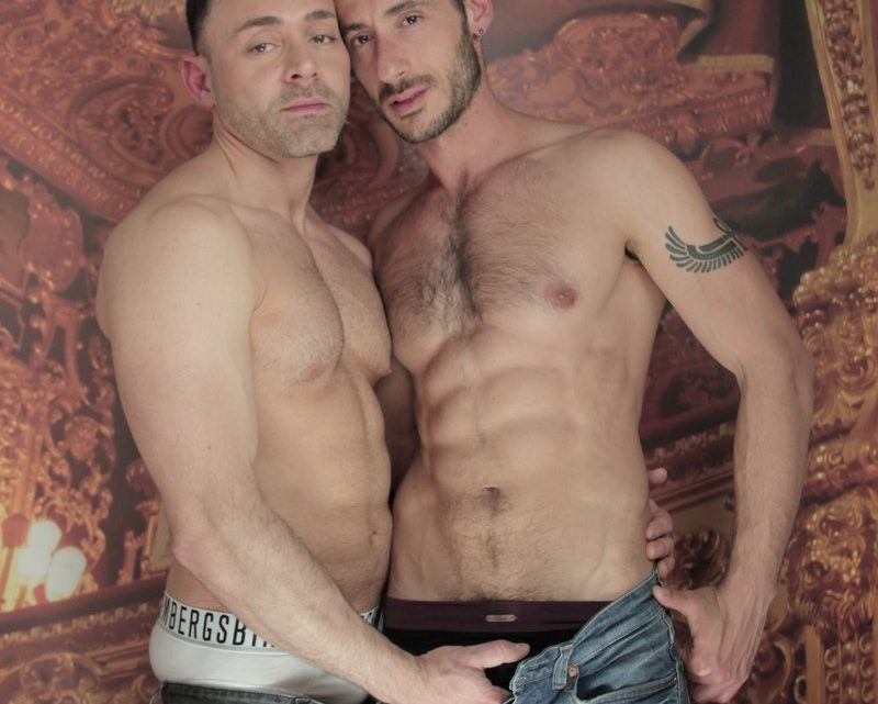 Ely Chain fucks Leonardo Lucatto doggy style thrusting his hot man meat deep into his muscular rippling sphincter