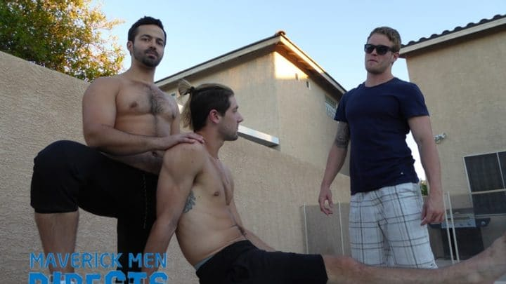 Delicious scruffy muscle stud Sean with smoking hot power fucker Anthony