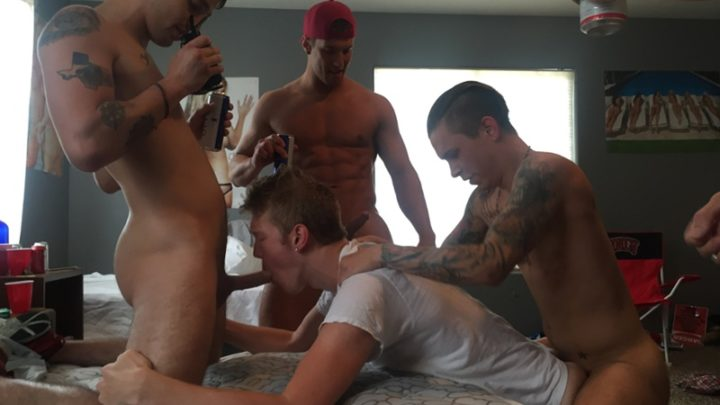 FraternityX grab him by the mussy, I shoved my dick in his young tight ass