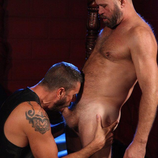 Jake Mitchel and Ale in sweaty jockstrap