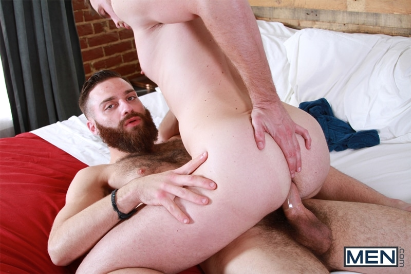 Brandon Moore sits on Tommy Defendi's hard dick riding it like a champion
