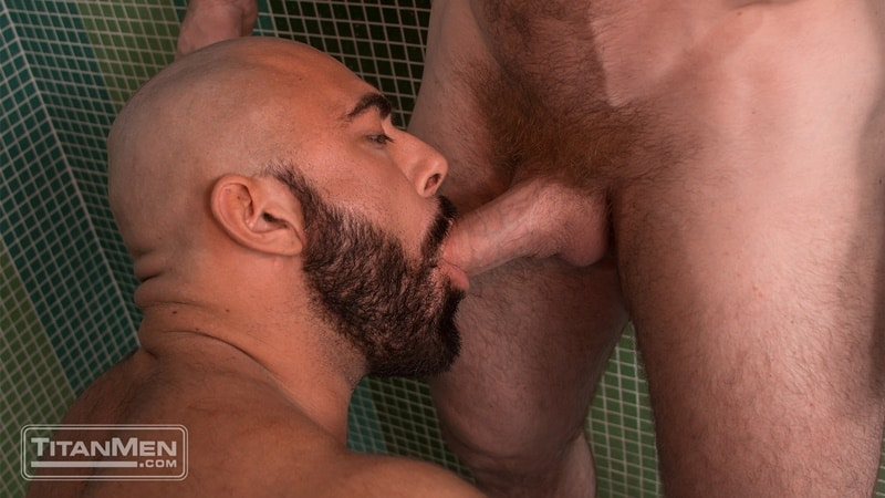 Steve Roman pins Liam Knox against the wall and licks down to his jock ass