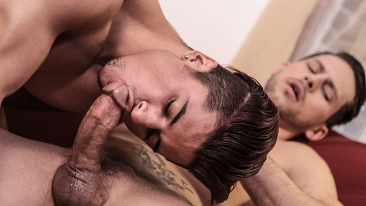 Armond Rizzo's tight young asshole fucked hard by older stud Roman Todd's huge dick