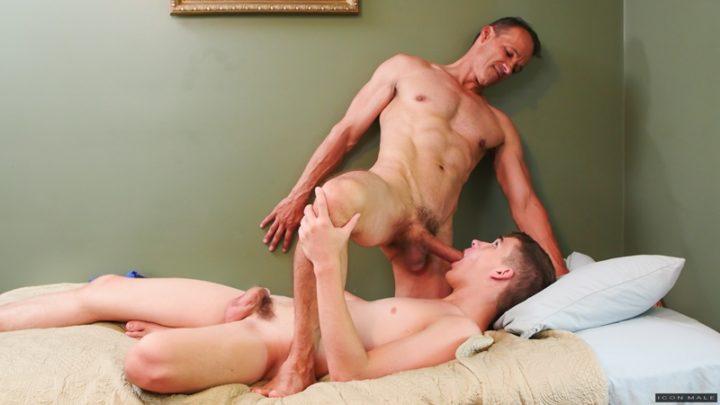 Sexy young naked men Kory Houston and Rodney Steele hardcore cock sucking ass fucking
