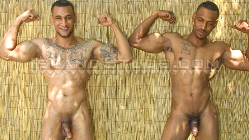 Straight brothers Devon and Darius jerking together