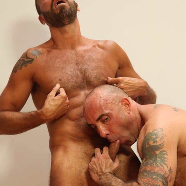 Butch Dixon: Pierced Italian stallion Ale Tedesco ass fucks Myles Bentley's furry hole!