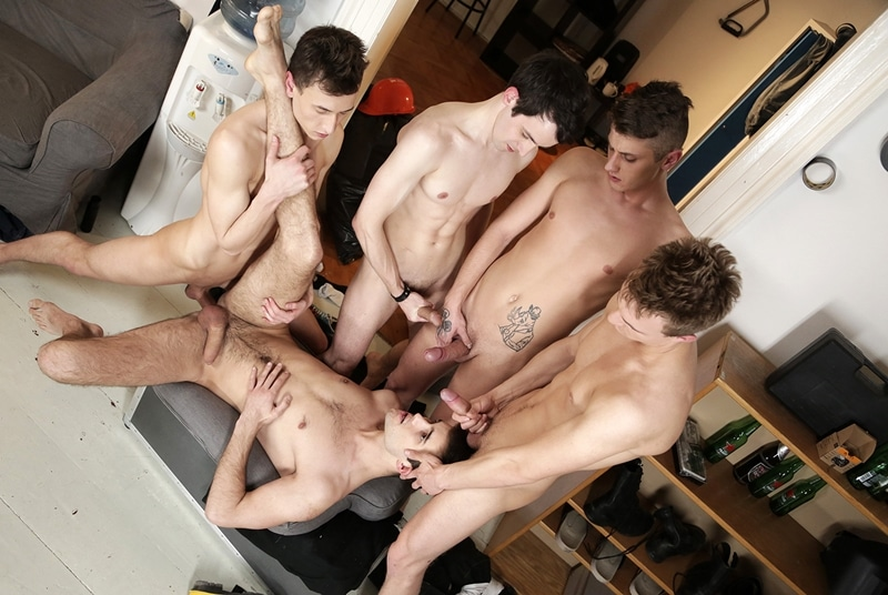 Ass fuck orgy with Jace Reed, Lukas Leung, Roman Smid, Ryan Torres and Sam Williams