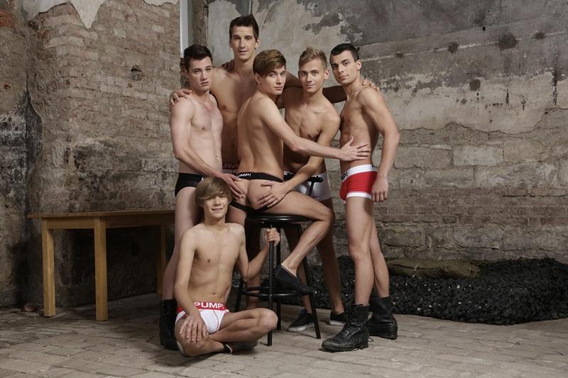Yuri Adamov, Nick Vargas, Ray Mannix, Noah Matous, Benjamin Dunn and Troy Vara gay orgy